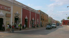 Street in the center of Valladolid Stock Footage