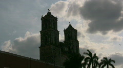 Cathedral in Valladolid Mexico Stock Footage