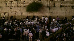 Shavuot celebration in Western Wall, Jerusalem Stock Footage