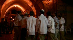 Stock Video Footage of Jewish celebration in Alley of Old City of Jerusalem