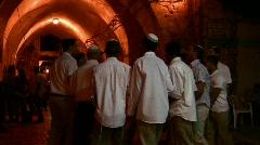 Jewish celebration in Alley of Old City of Jerusalem - stock footage