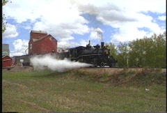 Railroad, historical footage, shot in 1991, steam train Stock Footage