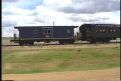 Railroad, historical, steam train, alongside Stock Footage