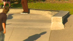Sports and fitness, skateboard park, #4 Stock Footage