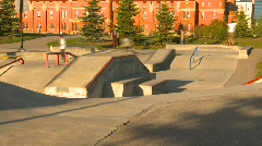 Sports and fitness, skateboard park, #5 Stock Footage