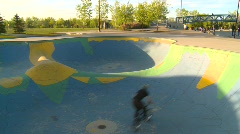 BMX skateboard park, #5  - stock footage