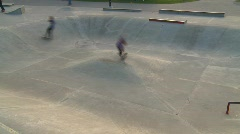 Sports and fitness, skateboard park, #3 Stock Footage