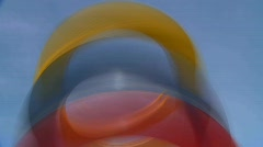 Abstract rings, spinning and motion, #3 Stock Footage