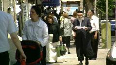 Bnei brak street 3.mov Stock Footage
