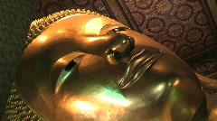 Wat Pho Buddha Bangkok Stock Footage