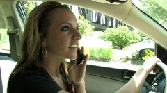 Talking on Cell Phone while Driving 578 Stock Footage