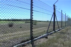 Electric perimeter fencing  - stock footage
