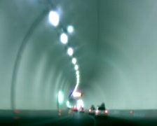 Driving through the tunnel, time lapse - stock footage