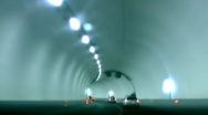 Driving through the tunnel, time lapse Stock Footage