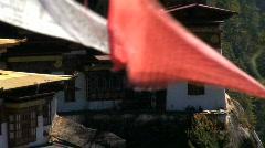 Taktsang Dzong or Tiger's Nest, Bhutan Stock Footage