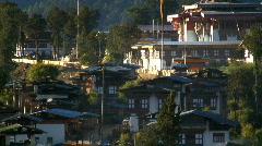 Gangtey Dzong (monastery)Bhutan Stock Footage