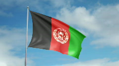 Flag of Afganistan  - stock footage