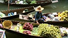 Floating market Bangkok Thailand Stock Footage
