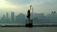 The Hong Kong Film Awards statue Stock Footage