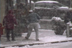 New York City Snowstorm 06 - stock footage
