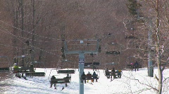 Chair lift 3 Stock Footage