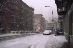New York City Snowstorm 09 - stock footage