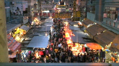 Fa Yuen St Market Hong Kong Stock Footage