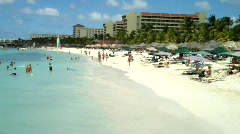 Tropical Beach St Maarten Caribbean (HD) Stock Footage