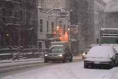 New York City Snowstorm - stock footage