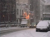 New York City Snowstorm Stock Footage
