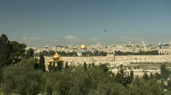 dome of the rock zoom in - stock footage