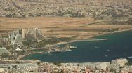 Eilat cityscape zoom 1 Stock Footage