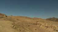 Eilat mountains pan 2 Stock Footage
