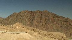 Eilat mountains pan 4 Stock Footage