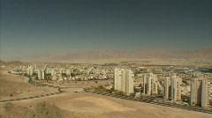 Eilat panorama pan Stock Footage