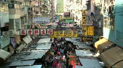 Fa Yuen St Market, Hong Kong Stock Footage