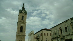 jaffa Clock tower timelapse 1 - stock footage