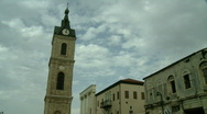 Stock Video Footage of jaffa Clock tower timelapse 1