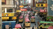 Kowloon district Hong Kong Stock Footage