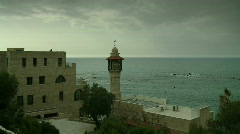 Jaffa mosque wide Stock Footage