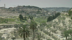 jerusalem Gethsemane pan church - stock footage