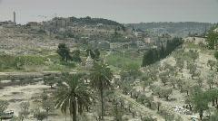 jerusalem Gethsemane pan church - stock footage