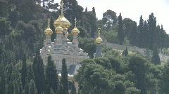 jerusalem Gethsemane zoom church - stock footage