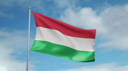 Stock Video Footage of Flag of Hungary
