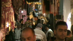 Jerusalem old city market 3 Stock Footage
