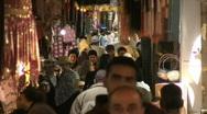 Jerusalem old city market 3 Stock Footage