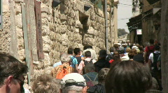 Via dolorosa tourist group Stock Footage