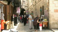 Via dolorosa V st pan street 2 Stock Footage