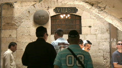 Via dolorosa VII st Stock Footage