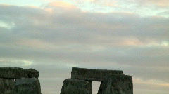 Stonehenge at Sunset Stock Footage